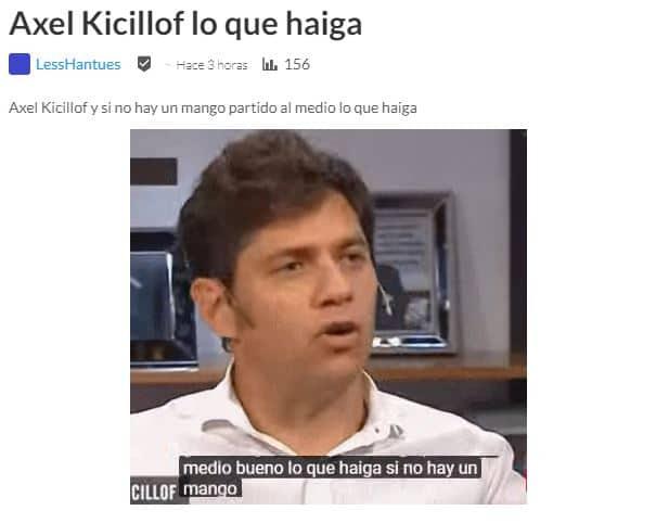"""Las redes no le perdonaron el """"haiga"""" a Axel Kicillof"""
