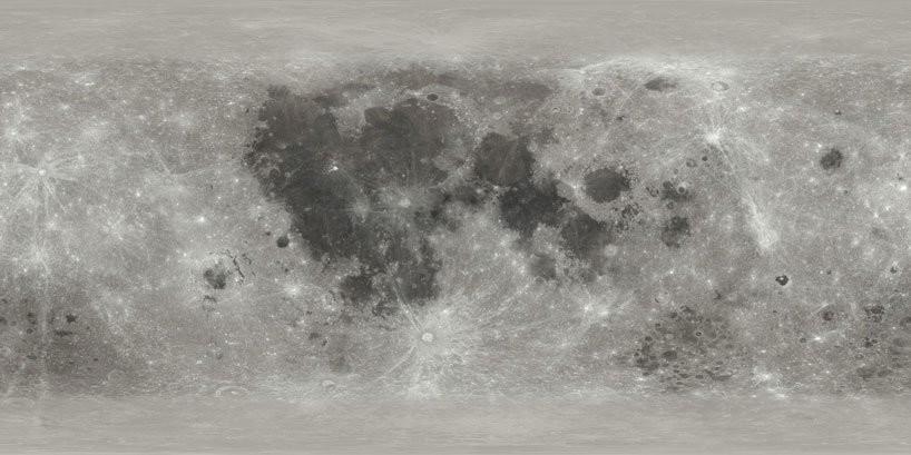Mapa de la luna plano