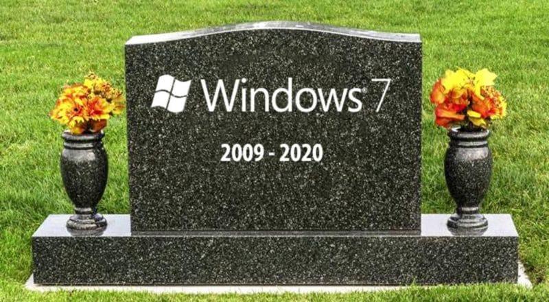 Windows 7 se volvió Windows XP