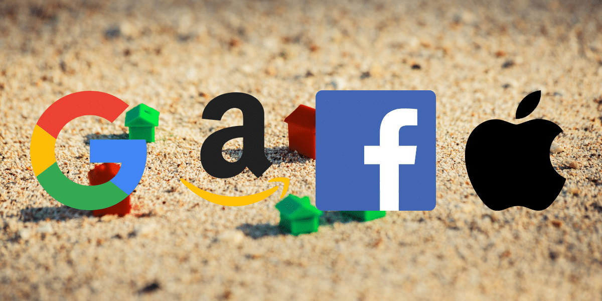 Amazon, Apple, Facebook y Google, culpables