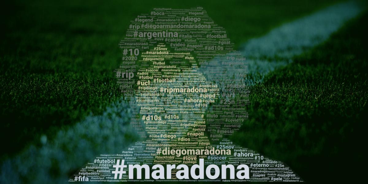 El amor por Maradona volvió loco a los algoritmos de las redes