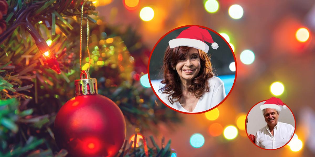 Cristina le sacó una cómoda ventaja a Alberto en los mensajes navideños de las redes
