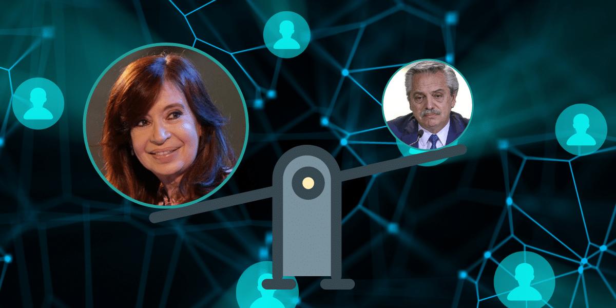 En las redes, Cristina logra más apoyos; Alberto más visibilidad