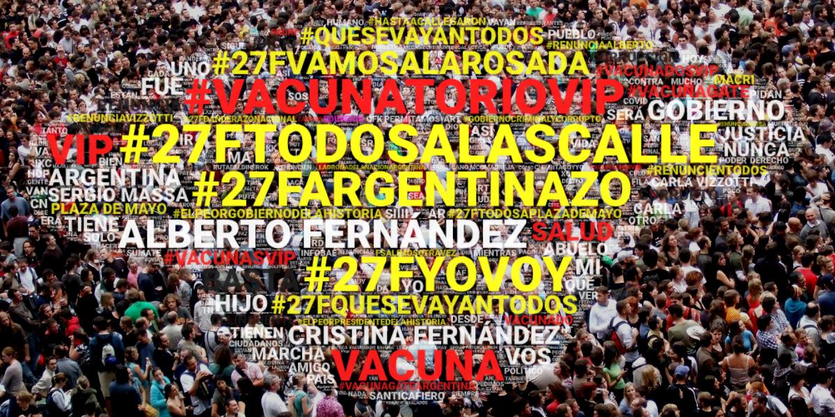 """Entre """"basta"""", """"corrupción"""" y """"renuncia"""" la oposición calienta las redes para la marcha del #27F"""