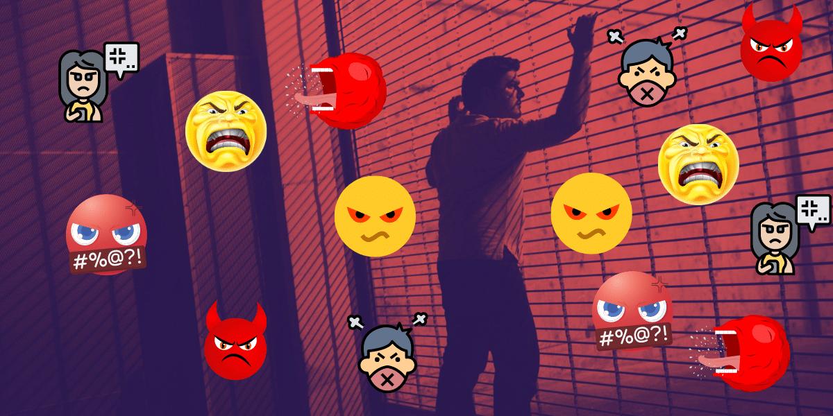 Nuevas restricciones: la negatividad al palo en las redes sociales