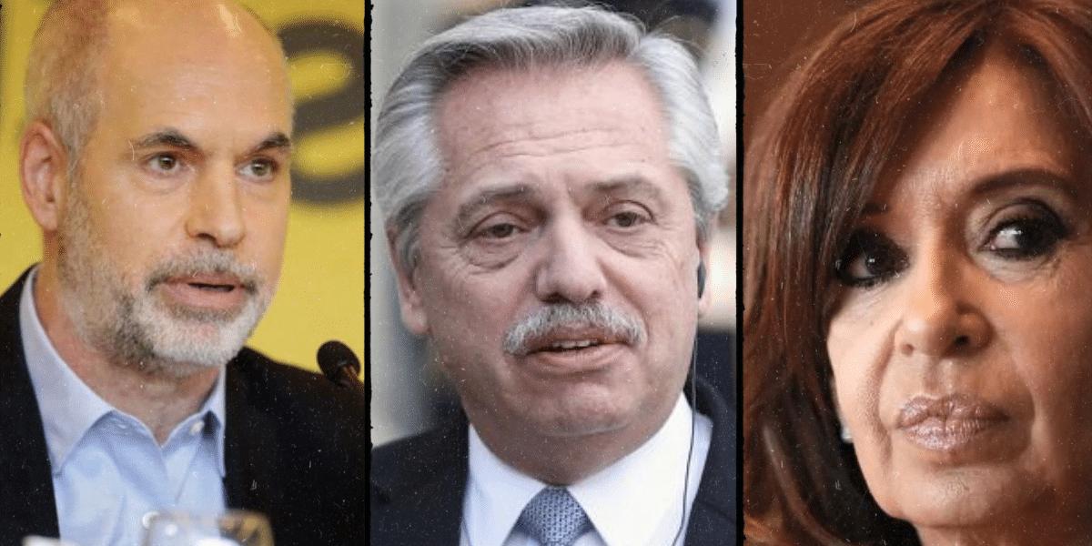 Cristina y Larreta logran protagonismo en las redes, al ritmo de los problemas de Alberto Fernández