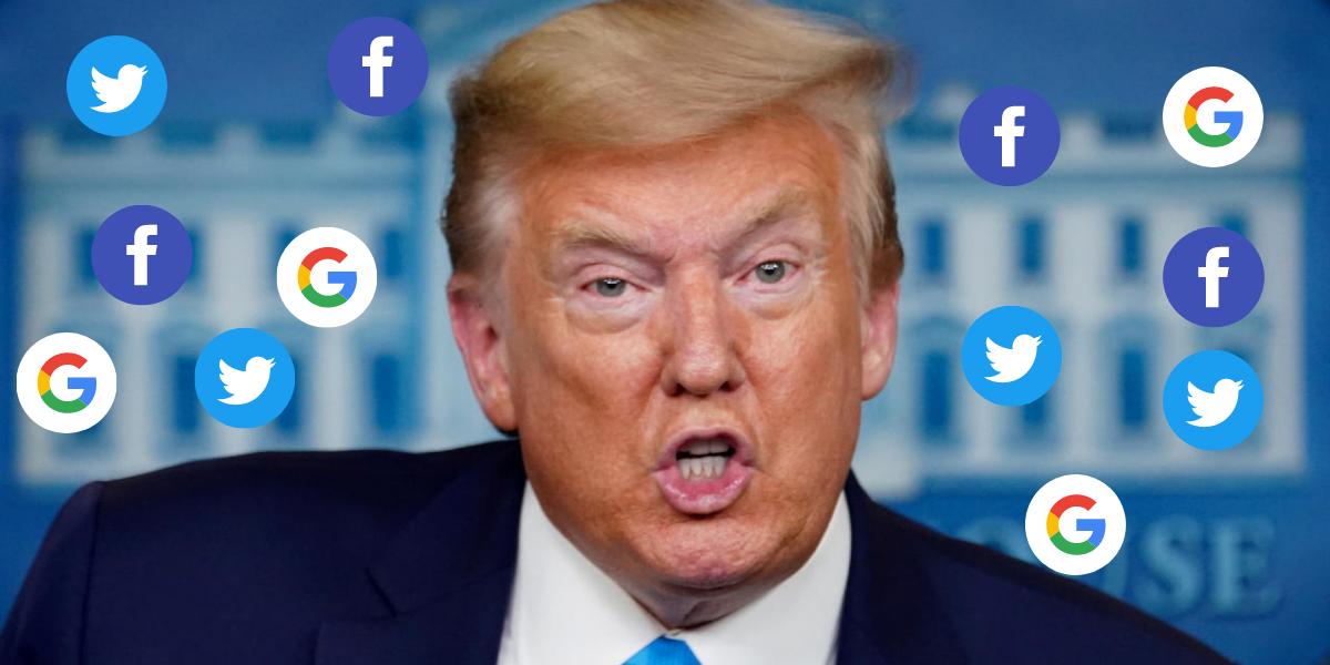 Trump vuelve y arremete contra las redes